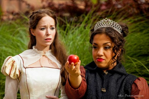 """Sara Jane Fridlich and Lauren Modica share the stage in PAE's """"Cymbeline."""""""