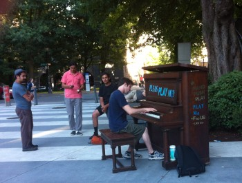 Anyone can play the piano, thanks to Push Piano Play! this week outside the Portland Art Museum.