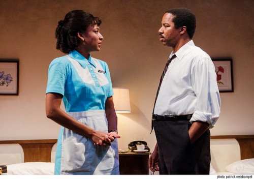 "Natalie Paul and Rodney Hicks in ""Mountaintop""/Patrick Weishampel"