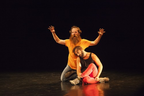 """Pieter Ampe and Guilherme Garrido in """"Still Standing You""""/Photo by Gia Goodrich, courtesy of PICA"""