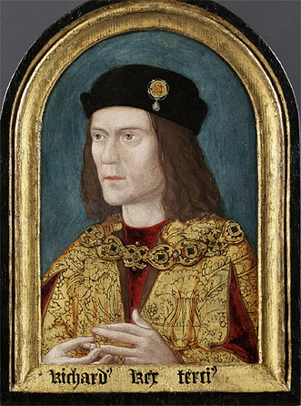 Earliest known surviving portrait of Richard III, ca. 1520, after lost original. Paint on panel, Society of Antiquaries, London/Wikimedia Commons
