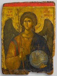 Archangel Michael, First half 14th century tempera on wood, gold leaf/Byzantine and Christian Museum, Athens