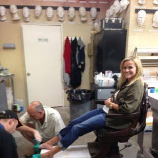 """Reese Witherspoon receives her fake feet in """"Wild."""""""