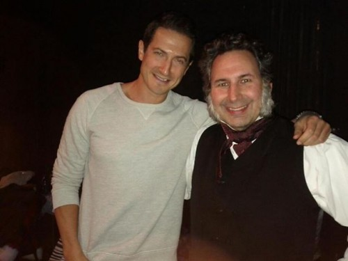 Sasha Roiz joined Scrooge Craig Cackowski opening night of 'Twist Your Dickens'/Portland Center Stage