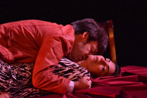 "Anne Sorce and Jeffrey Jason Gilpin in Harold Pinter's ""The Lover""/Imago Theatre"
