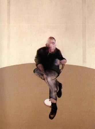 """Francis Bacon, """"Study for a Self Portrait,"""" center panel/Wikimedia"""