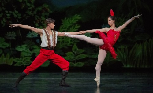 Prince Igor (David Packard) and the Firebird (Marina DiCorcia). Photo: Blaine Truitt Covert