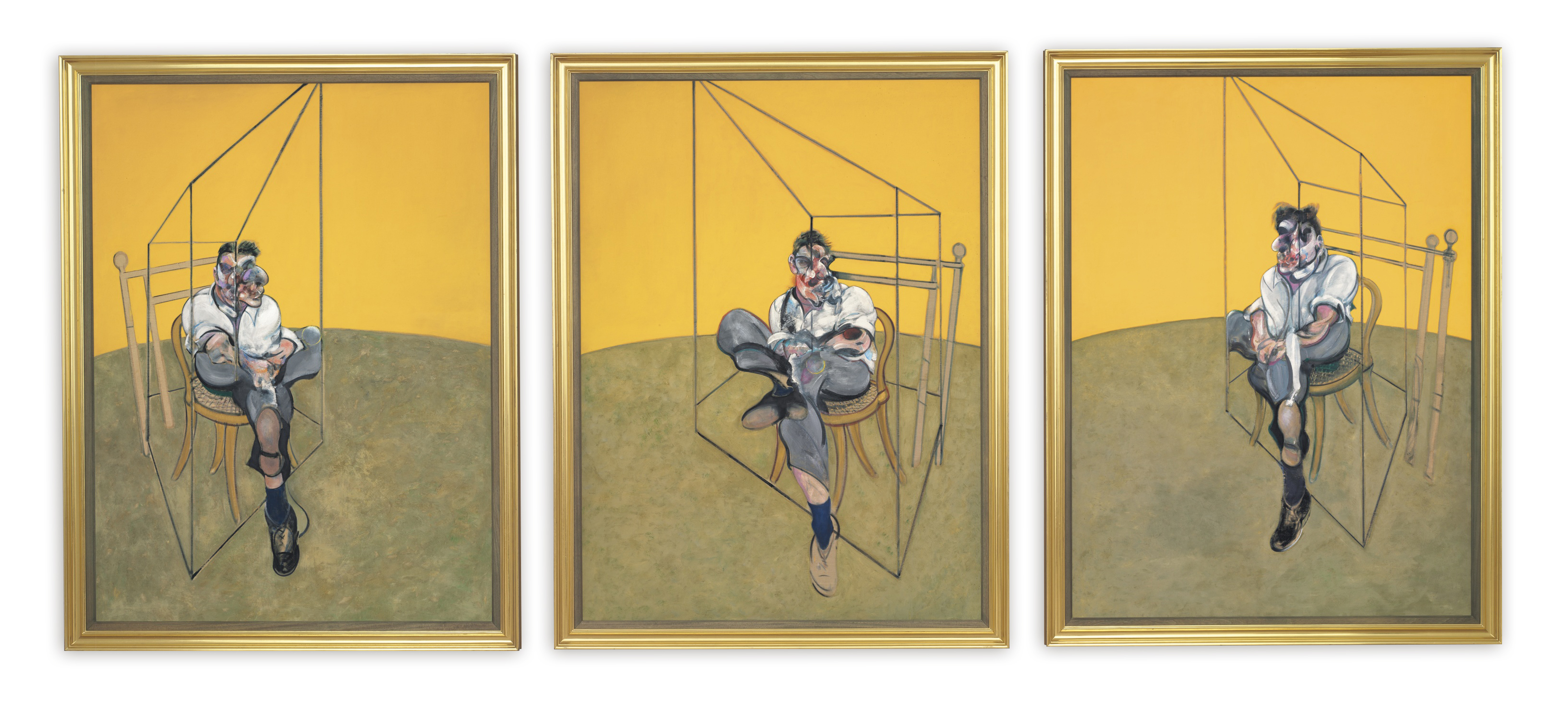 Image result for three studies of lucian freud by francis bacon, 1969.