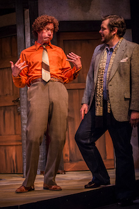 "Damon Kupper and Isaac Lamb in ""Noises Off""/Owen Carey"
