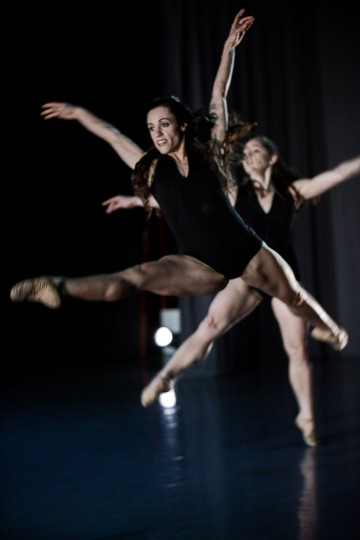 Svetlova (front) and Shaw in Skinner's untitled work. Photo: David Krebs.