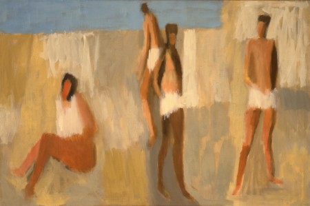 "Michele Russo, ""Bathers,"" 1960/Portland Art Museum ©1960 Michele Russo"