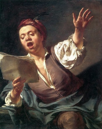 "Giovanni Battista Piazzetta, ""The Singer,"" c. 1730, oil on canvas, 32.5 x 27 inches, Museée Fabre, Montpelier, France. Photo: Frédéric Jaulmes"