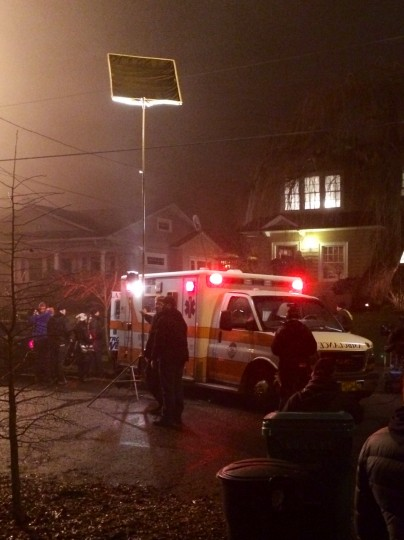 When the ambulance rolled up on Friday night, we were long gone to the penthouse. Photo: Shelley Holly