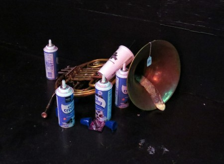 """Alicia McDaid, """"Performance Chime (residue from a feminist chime performance"""""""