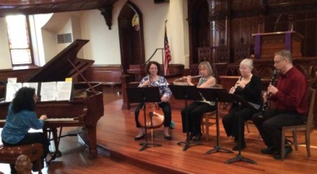 The Mousai performed at Portland's First Presbyterian Church.