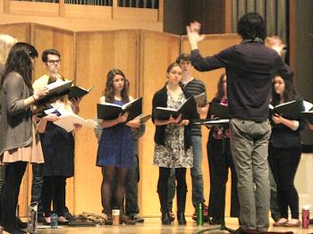 Sospiro rehearses music by Libby Larsen. Photo: Gary  Ferrington.