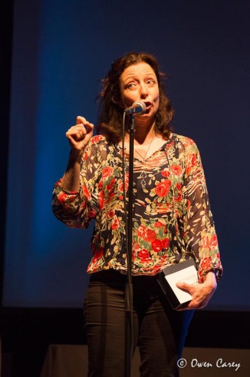 "Best actress co-winner Maureen Porter, ""Crooked,"" CoHo Productions. Photo: Owen Carey"