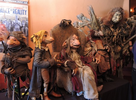 "The entire puppet cast from Toby Froud's ""Lessons Learned"" greeted fans in the Hollywood Theatre lobby Saturday. L to R: Digby, Boy, Grandfather, Time, Fate"