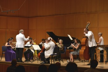 A relatively big band played chamber symphonies at CMNW. Photo: Jonathan Lange.