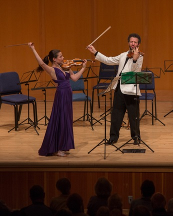 Bella Hristova and Steven Copes played Prokofiev at Chamber Music Northwest. Photo: Tom Emerson.