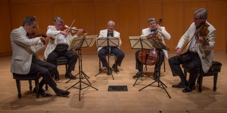 David Shifrin joined the Emerson Quartet at Chamber Music Northwest. Photo: Tom Emerson.