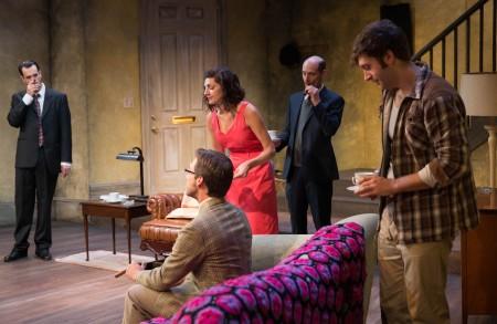 Ann Sorce and the fellas: trouble's a-brewin'. Photo: John Rudoff