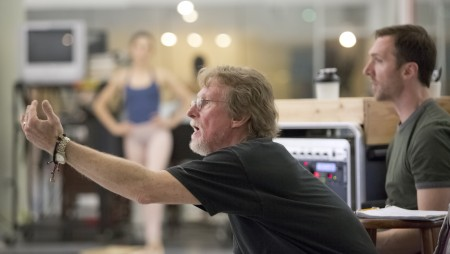 "Bart Cook, repetiteur for the George Balanchine Trust, rehearsing ""Agon"" at OBT. Photo: Blaine Truitt Covert"