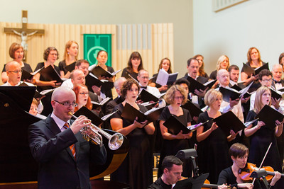 Flugelhornist Thomas Barber joined Choral Arts Ensemble in music of Ola Gjeilo last weekend. Photo: David Hughes.