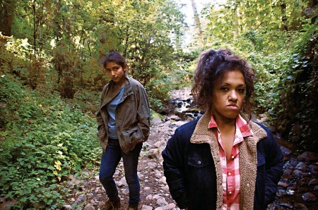 Ceballos (left) and Modica, deep in the mythological woods. Photo: Defunkt Theatre