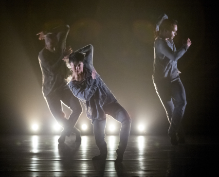 """From left: Franco Nieto, Ching Ching Wong and Viktor Usov in the world premiere of Yin Yue's """"Between Rise and Fall."""" Photo: Blaine Truitt Covert"""