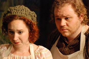 Amelia Morgan-Rothschild and Jake Beaver as Baker's Wife and Baker.