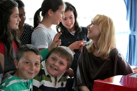 Stefanovich enjoys working (with piano students. Photo: Ursula Kaufmann.
