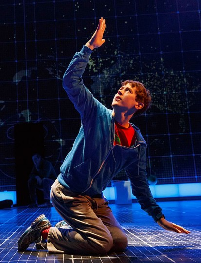 "Alex Sharp as Christopher in ""Curious Incident.""  Joan Marcus Photographer, © Broadway.com"