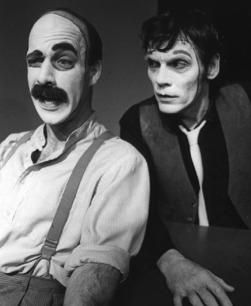 """Roisum (left) and Keith Scales in """"Greek,"""" 1987"""