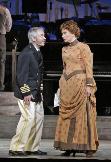 Allen Nause and Susannah Mars as Cap'n Andy and Parthy Ann: bickering mates. Photo: Cory Weaver