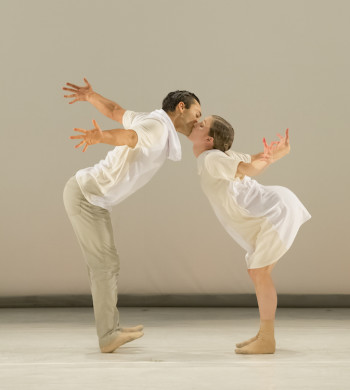 "NW Dance Project dancers (and Princess Grace Award winners) Viktor Usov and Andrea Parson in the world premiere of Sarah Slipper's ""Preludes  7-13""/Blaine Truitt Covert"