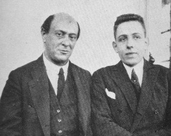 """Poulenc and Schoenberg in Vienna, 1922. From Francis Poulenc, """"My Friends and Myself"""",  ©1978, Dobons Books Ltd."""