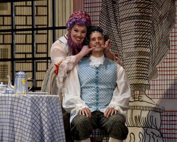 Baba the Turk (Angela Niederloh) and Tom Rakewell. Photo: Karen Almond.