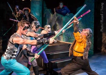 """Anon It Moves' """"Cymbeline"""": clash of the titans. Photo: Russell J Young"""