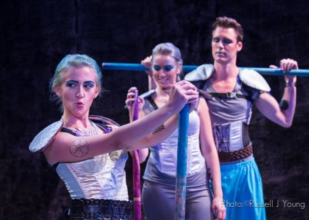 From left: Shannon Mastel, Juliana Wheeler, Tyler Miles at Anon It Moves. Photo: Russell J Young