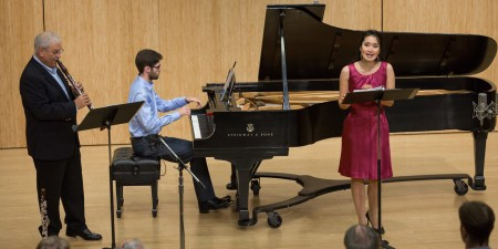 Singer Evanna Chiew also performed last week in Chamber Music Northwest's New@Noon series with clarinetist David Shifrin and pianist Yevgeny Yontov. Photo: Tom Emerson.