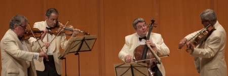 Emerson String Quartet played Mozart & Ravel at Chamber Music Northwest. Photo: Tom Emerson