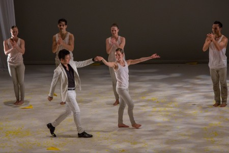 Yekwon and company taking a bow! What a wonderful collaboration with Northwest Dance Project. Photo: Tom Emerson.
