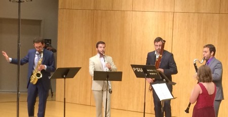 The Akropolis Reed Quintet performed music by John Steinmetz at Chamber Music Northwest.