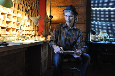 Salem, Oregon, artist, D.E. May in his studio./Sabina Poole