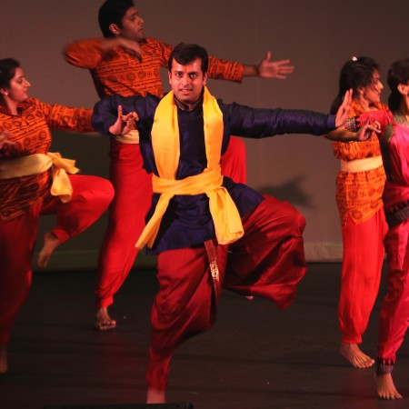 Bharanatyam dancer Dhruv Singh performing in the Ramayana.