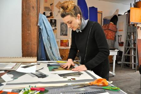 In her SE Portland studio, Blair Saxon-Hill.