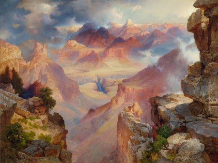 """Thomas Moran (American, born England, 1837–1926), """"Grand Canyon of Arizona at Sunset ,"""" 1909. Oil on canvas, 30 × 40 inches. Courtesy of the Paul G. Allen Family Collection."""