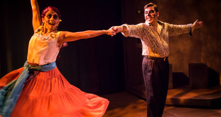 In the Día de los Muertos/Halloween mood: Milagro Theatre's La Muerte Baila swirls with the season of the dead. Photo: Russell J. Young