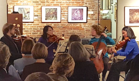 Delgani premieres Terry McQuilkin's new string quartet.
